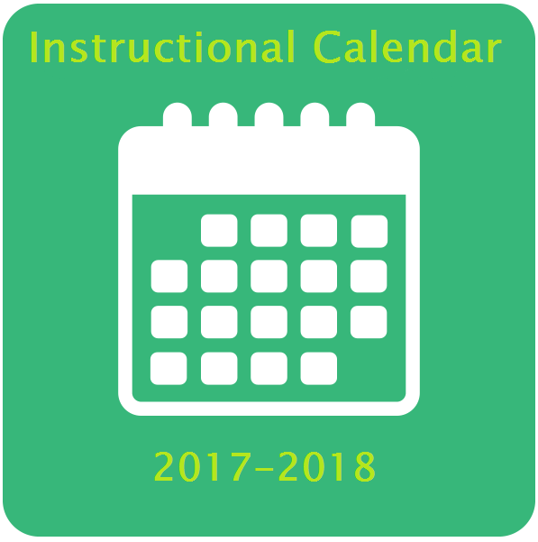 Instructional Calendar for 2017-2018